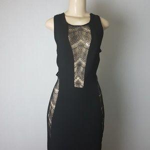 Nasty Gal Long Black See-Through Dress Large
